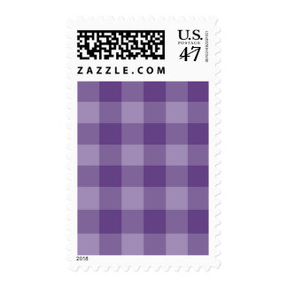 Violet checkered background postage stamp