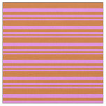 [ Thumbnail: Violet & Chocolate Colored Pattern Fabric ]