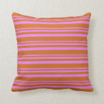 [ Thumbnail: Violet & Chocolate Colored Pattern Throw Pillow ]