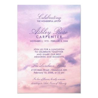 Violet Clouds Celebration of Life Memorial Card