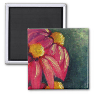 VIOLET CONE FLOWERS MAGNET