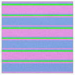 [ Thumbnail: Violet, Cornflower Blue, and Lime Lines Pattern Fabric ]