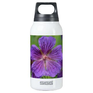 Violet Cranesbill Flowers Insulated Water Bottle