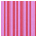 [ Thumbnail: Violet & Crimson Colored Pattern of Stripes Fabric ]