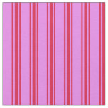 [ Thumbnail: Violet & Crimson Colored Striped Pattern Fabric ]