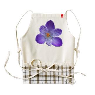 Violet crocus 1.2. zazzle HEART apron