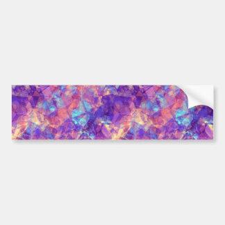 Violet Crumpled Texture Bumper Sticker