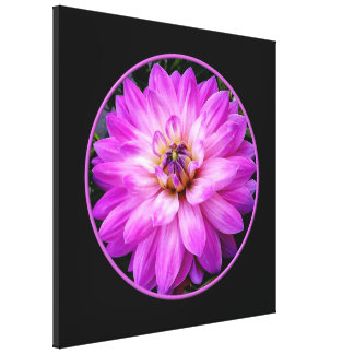 Violet Dahlia Wrapped Canvas Print
