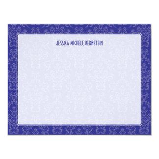 "Violet Damask Note 4.25"" X 5.5"" Invitation Card"
