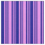 [ Thumbnail: Violet & Dark Blue Stripes/Lines Pattern Fabric ]
