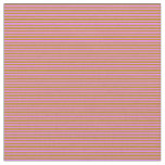 [ Thumbnail: Violet & Dark Goldenrod Colored Lined Pattern Fabric ]