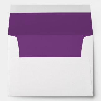 Violet Dark Invitation Envelope
