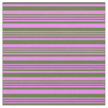 [ Thumbnail: Violet & Dark Olive Green Striped/Lined Pattern Fabric ]