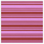 [ Thumbnail: Violet & Dark Red Colored Stripes Pattern Fabric ]
