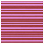 [ Thumbnail: Violet & Dark Red Lines/Stripes Pattern Fabric ]