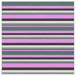 [ Thumbnail: Violet, Dark Slate Gray, Grey, White & Black Fabric ]