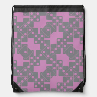 Violet Dice Drawstring Backpack