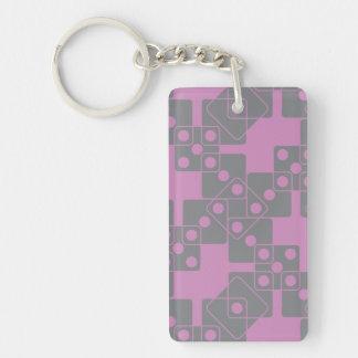 Violet Dice Keychain