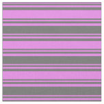[ Thumbnail: Violet & Dim Gray Colored Lined Pattern Fabric ]