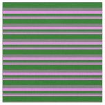 [ Thumbnail: Violet, Dim Gray & Dark Green Lines Fabric ]