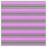[ Thumbnail: Violet & Dim Gray Lines Pattern Fabric ]
