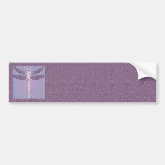 Violet Dragonfly Bumper Sticker