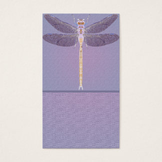 Violet Dragonfly Customizable Business Card