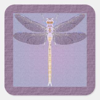 Violet Dragonfly Square Sticker
