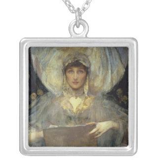 Violet, Duchess of Rutland Square Pendant Necklace