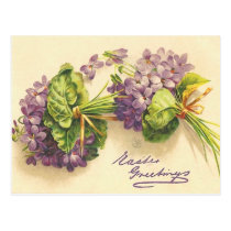 Violet Easter Postcard