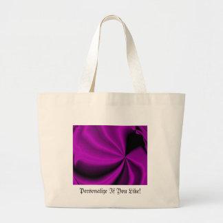 Violet Enigma Purple Satin Cloth Look Jumbo Tote Bag