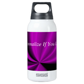 Violet Enigma Purple Satin Cloth Look Insulated Water Bottle