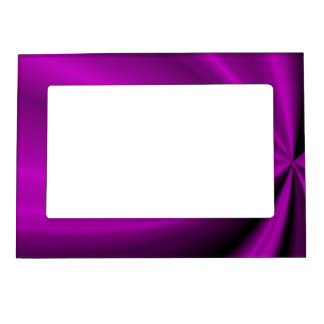 Violet Enigma Purple Satin Cloth Look Magnetic Picture Frame