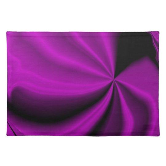 Violet Enigma Purple Satin Cloth Look Placemat