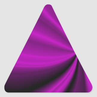 Violet Enigma Purple Satin Cloth Look Triangle Sticker