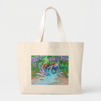 Violet Fairies Large Tote Bag