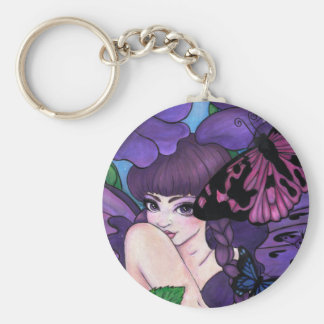 """Violet"" fairy fantasy keychain"