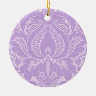 Violet Fantasy Floral Ornament