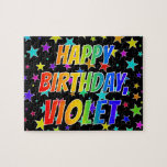 """[ Thumbnail: """"Violet"""" First Name, Fun """"Happy Birthday"""" Jigsaw Puzzle ]"""