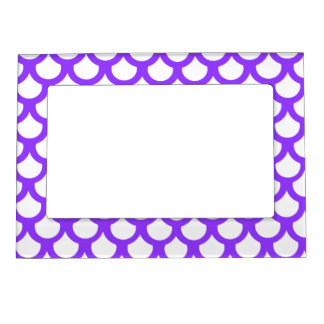 Violet Fish Scale 1 Magnetic Picture Frame