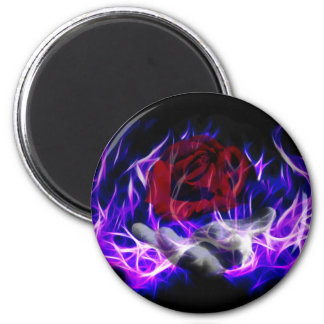 Violet flame rose and Gods hand 2 Inch Round Magnet