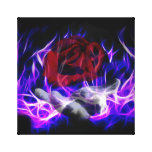 Violet flame rose and Gods hand Canvas Prints