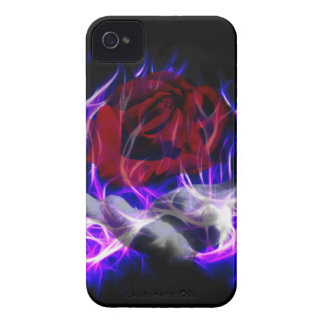 Violet flame rose and Gods hand iPhone 4 Case-Mate Case
