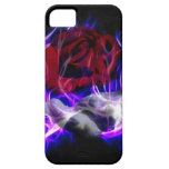 Violet flame rose and Gods hand iPhone 5 Case