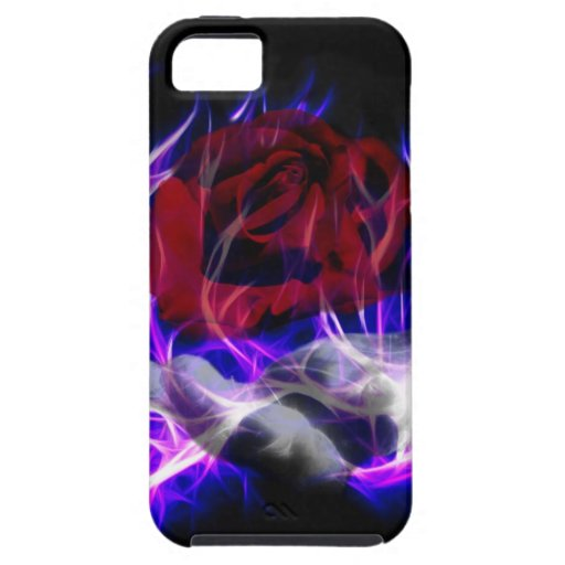 Violet flame rose and Gods hand iPhone 5 Cover