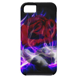Violet flame rose and Gods hand iPhone SE/5/5s Case