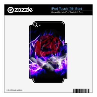 Violet flame rose and Gods hand iPod Touch 4G Skins