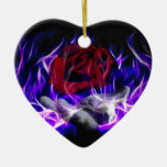 Violet flame rose and Gods hand Ornament