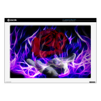 """Violet flame rose and Gods hand Decal For 17"""" Laptop"""