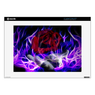 """Violet flame rose and Gods hand 15"""" Laptop Decal"""